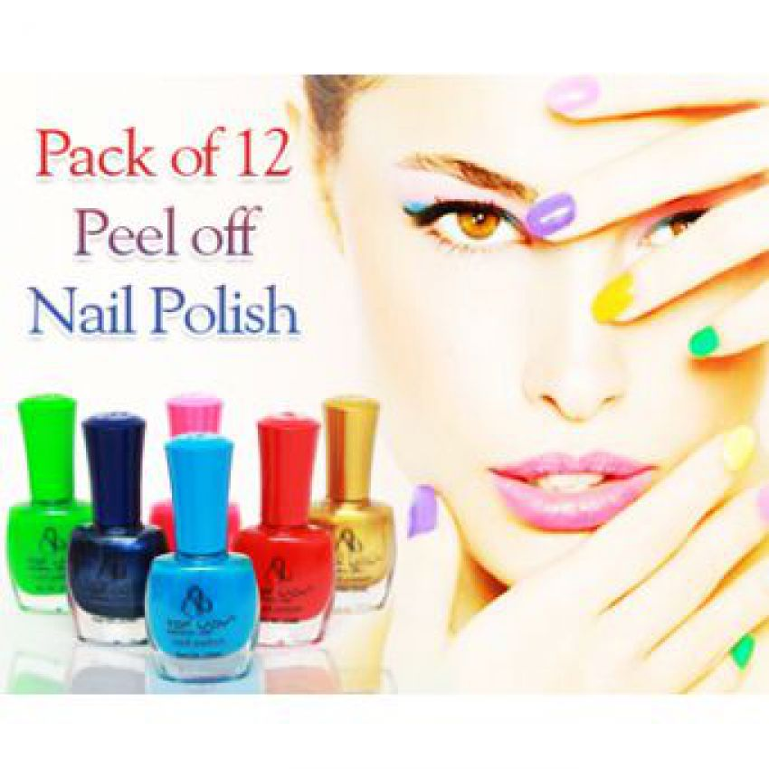 Pack Of 12 Peel Off Nail Paints For Her
