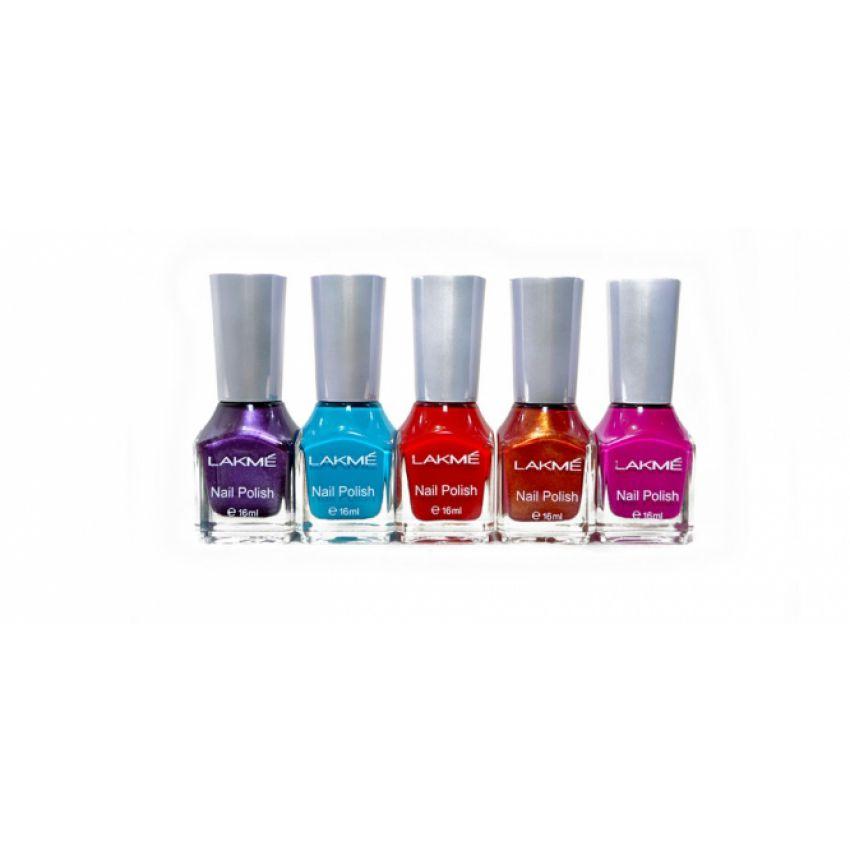 Gel Nail Polish Lakme: Buy Pack Of 5 Naked2 Lipsticks Get 5 Pcs Lakme Nail Polish