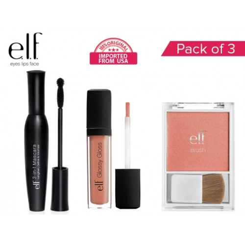 Original ELF Pack Of 3 Products Mascara  Blush  Li