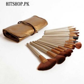 24 Pieces Naked  Brush Set With Leather Pouch