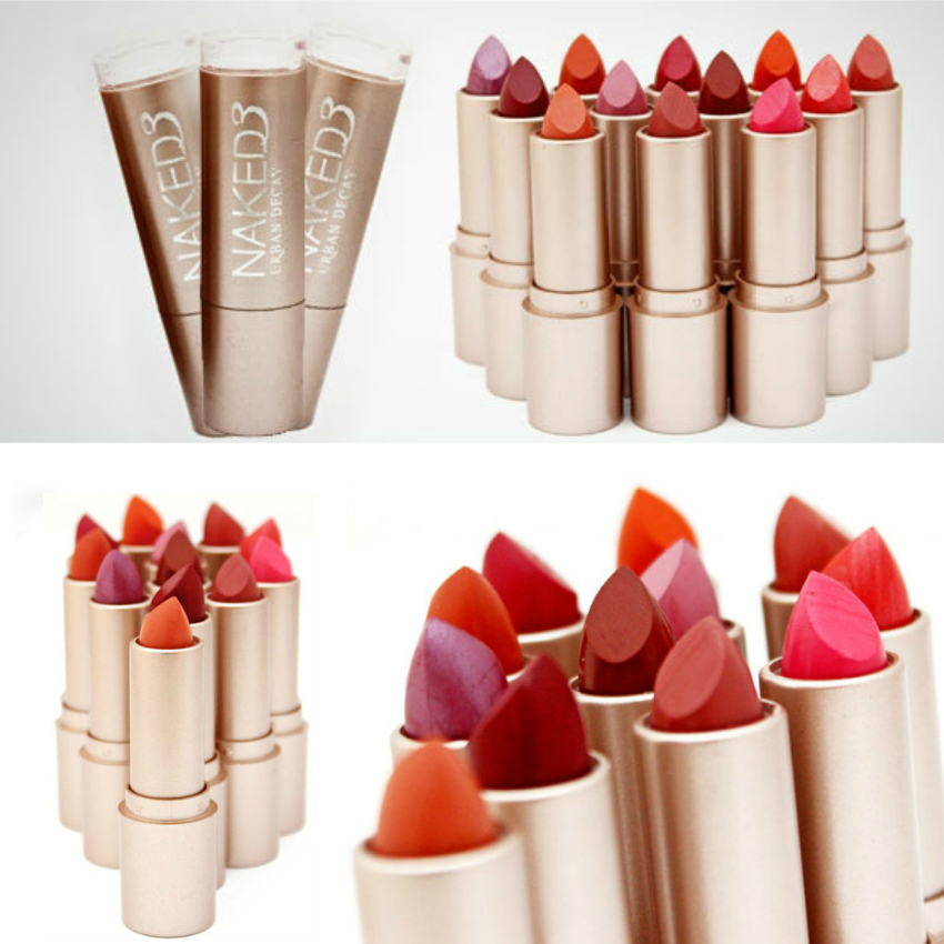Pack of 6 naked3 lipsticks get 4 free naked produc