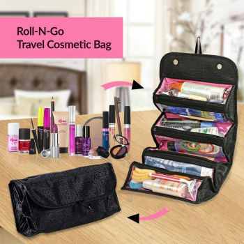 Roll N Go Makeup Cosmetic Bag