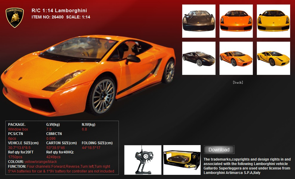 Lamborghini Remote Controlled Car 26400 In Pakistan Hitshop