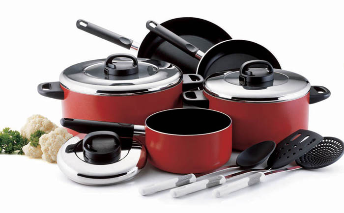 Prestige pan set high performance cookware set with for Perfect kitchen cookware