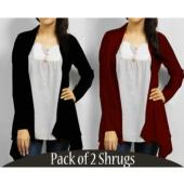 Pack of 2! Long Style Cardigan Stylish Shrugs