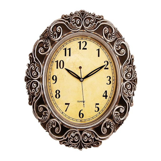 Antique Wall Clock With Silver Finishing