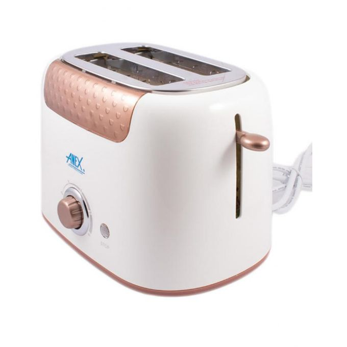 Anex AG-3001 - Deluxe 2 Slice Toaster - Brown &amp