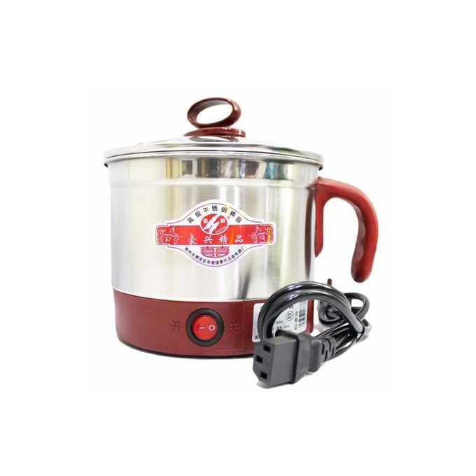 Electronic Travel Cooker With Egg Boiler - Silver