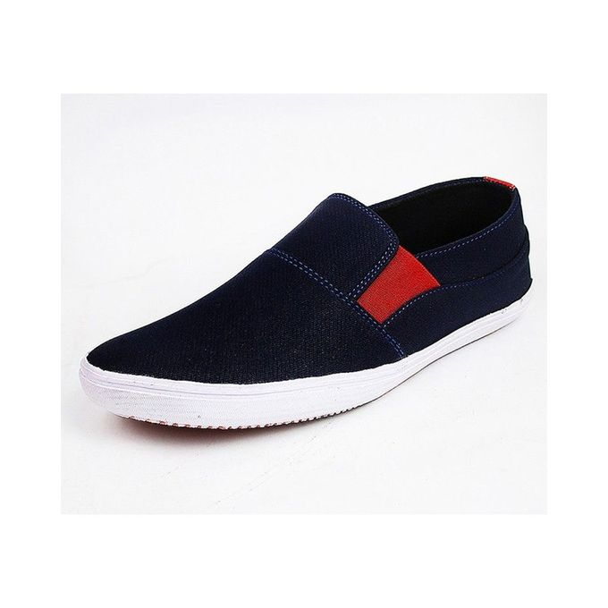 Mens Blue Red Stylish Sneakers