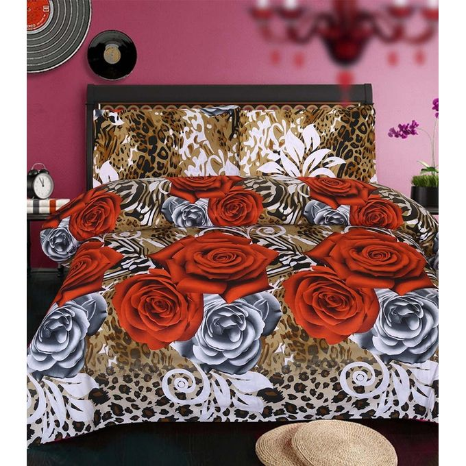 Multicolour Bedsheet with Pillow Covers