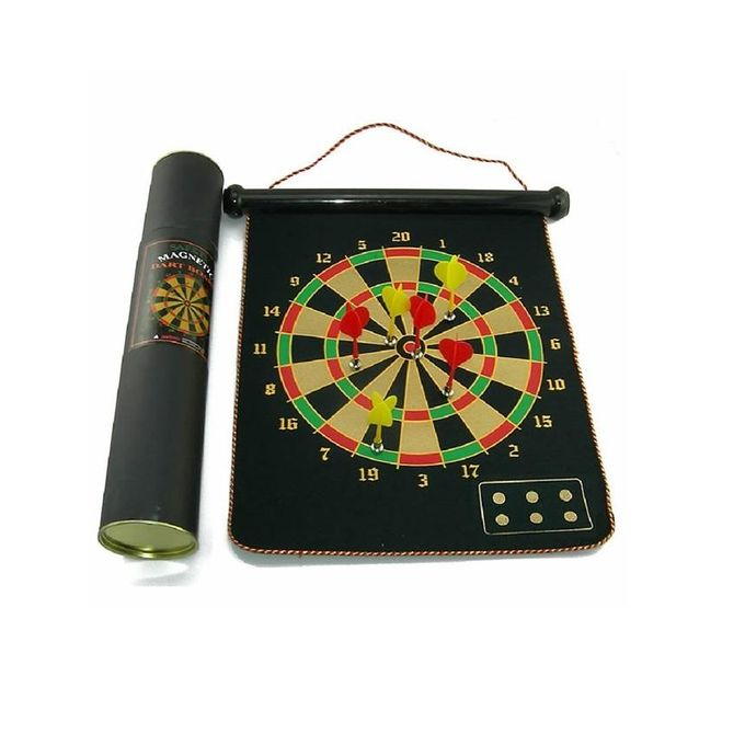 Rollable Magnetic Dart Board - Black