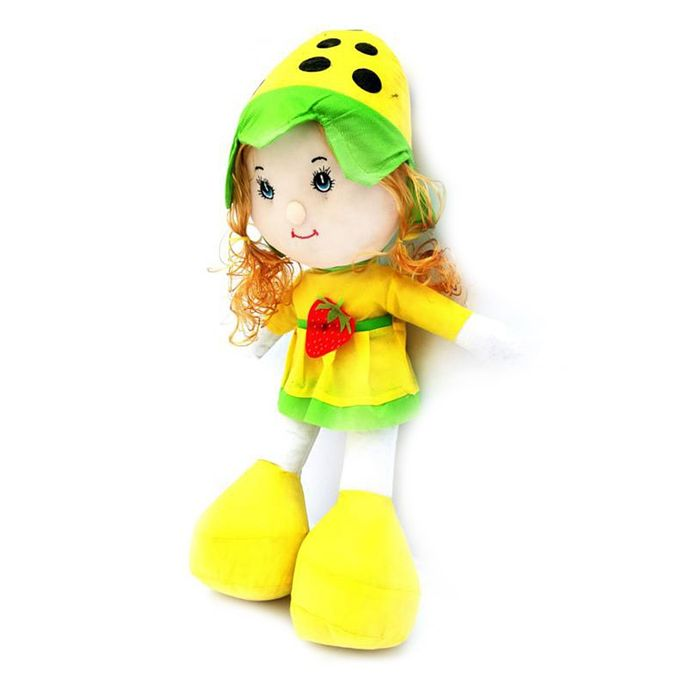 Strawberry Doll For Kids - Yellow