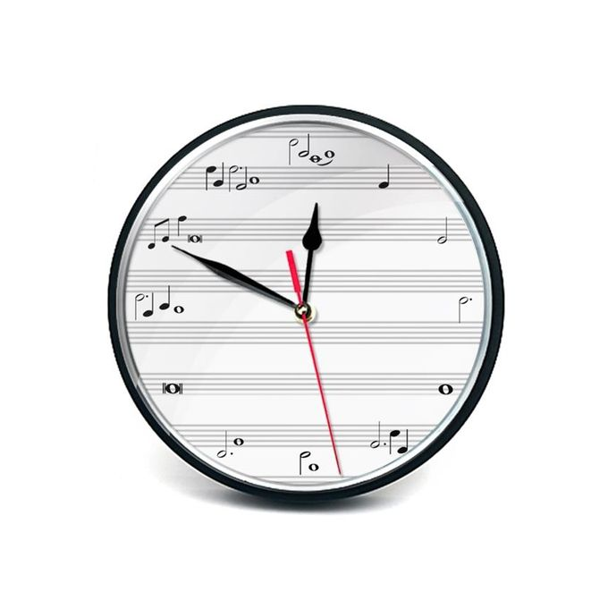 Stylish Wall Clock - Black