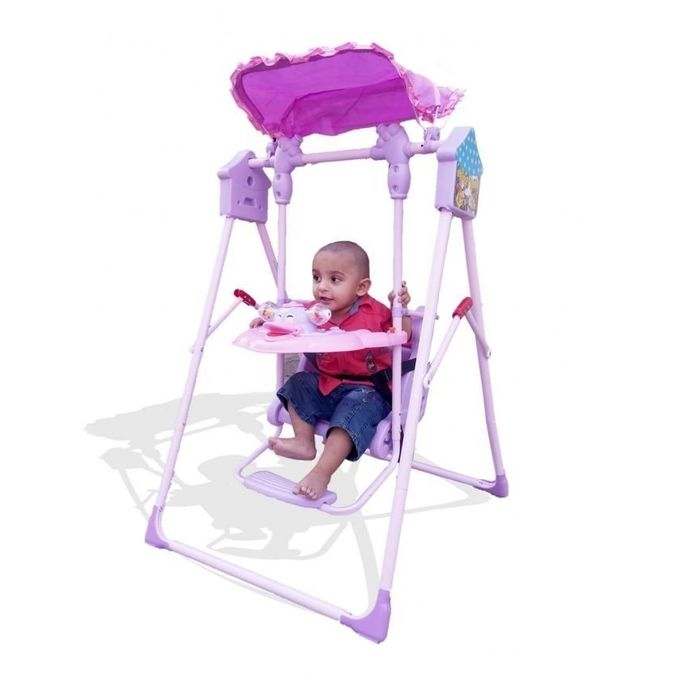 Swing Set for Kids - Purple