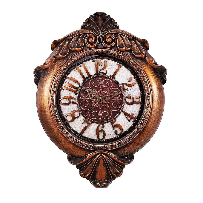 Wall Decor Clock Bronze