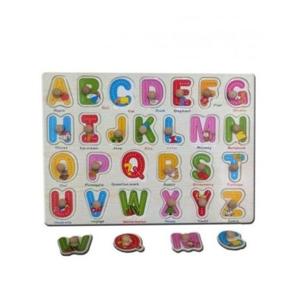 3D ABC Wooden Educational Toy For Kids Multicolor