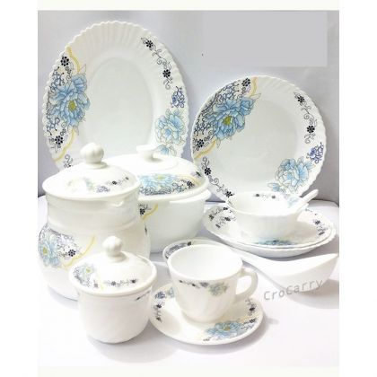 72 Pcs Ceramic Dinner Set - White