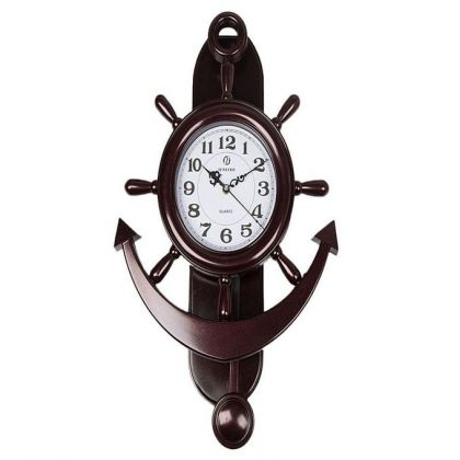 Anchor Wall Clock - Shinning Red
