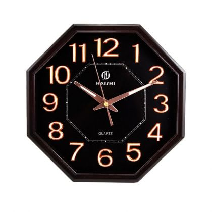 Black Center Dial Radium Wall Clock