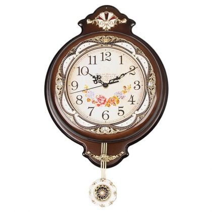 Brown Fancy Wall Clock - 12X16