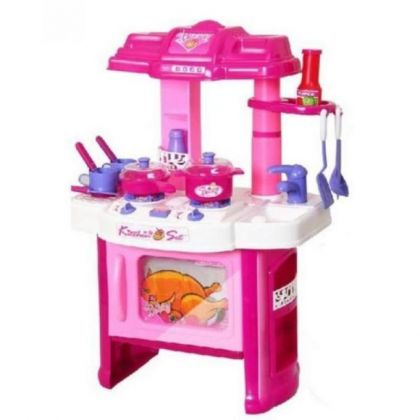 Large Kitchen Set With Accessories - Pink