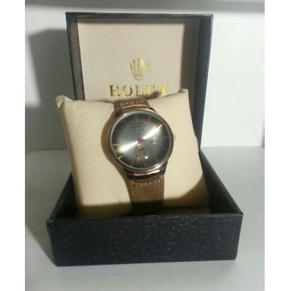 Latest Rolex Leather Watch For Mens