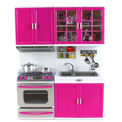 Modern Kitchen Set - Pink & White