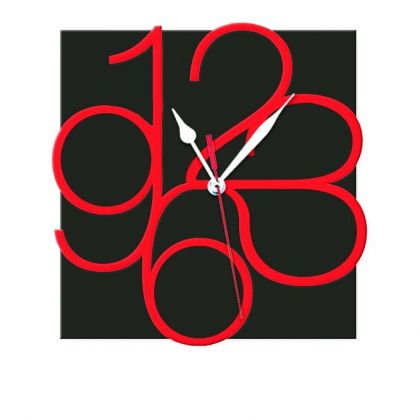 Non-Ticking Silent Wall Clock - Black