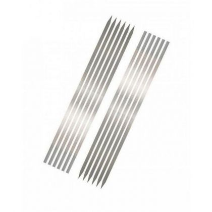 Pack of 12 - BBQ Flat Tikka Skewers - Silver