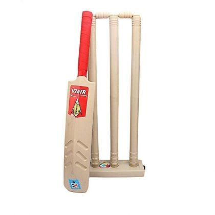 Pack of 2 - Cricket Bat & Wicket - Beige