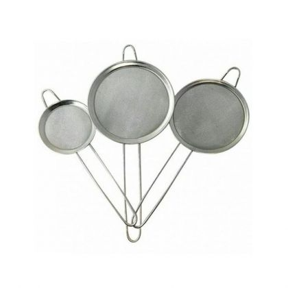 Pack of 3  Steel Mesh Tea Strainer