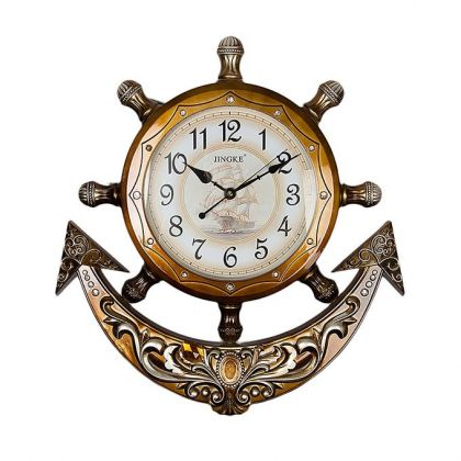 Roman Pearl Anchor Wall Clock With Pendulum - Bron