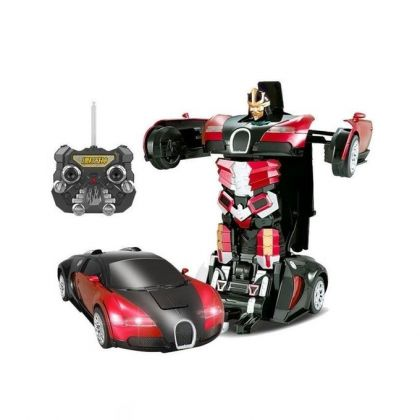 Transformer Bugatti Car Robot With Remote Control