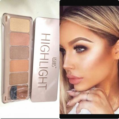 Ushas Highlighter Kit 5 Exciting Colors